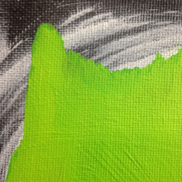 Close-Up 1 Emerald Daze- Tribute to Jeff Muhs Linda Cleary 2014 Acrylic on Canvas