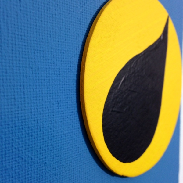 Close-Up 1 Nuit Sonne- Tribute to Jean (Hans) Arp Linda Cleary 2014 Wood Cutouts & Acrylic on Canvas
