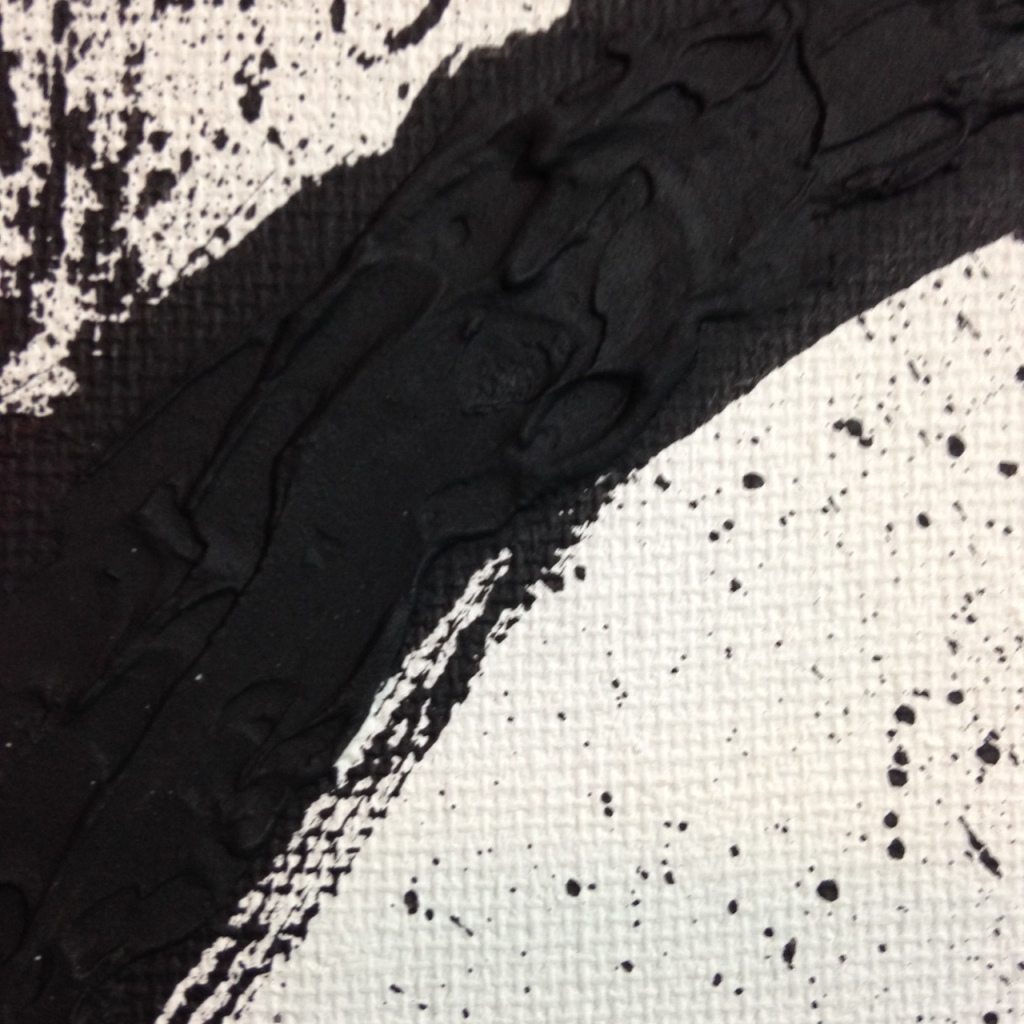 Close-Up 1 Incline- Tribute to Richard Serra Linda Cleary 2014 Spackle & Acrylic on Canvas
