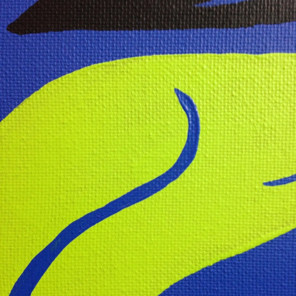 Close-Up 1 Sway- Tribute to Jack Youngerman Linda Cleary 2014 Acrylic on Canvas