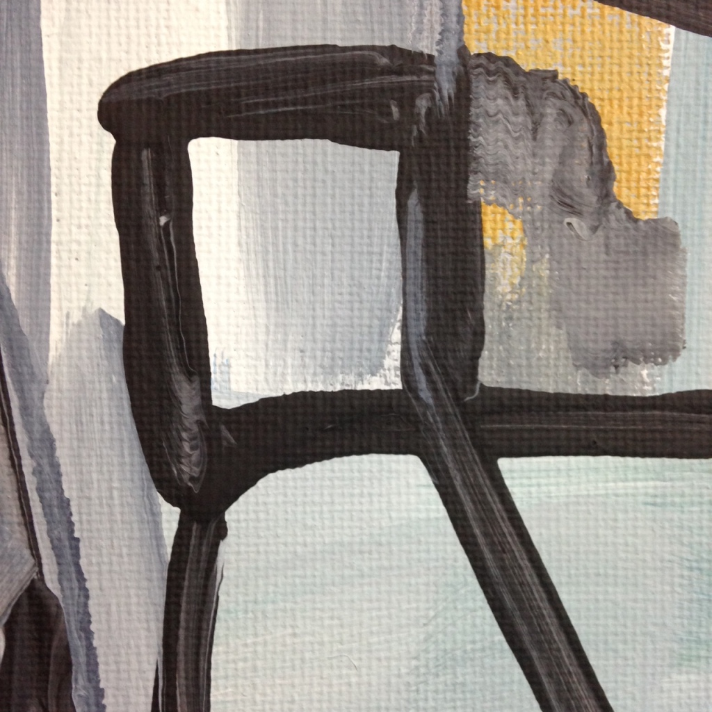 Close-Up 1 Bridge- Tribute to Gertrude Greene Linda Cleary 2014 Acrylic on Canvas