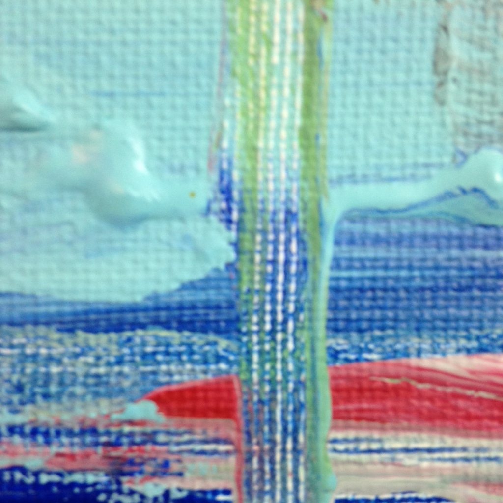 Close-Up 2 Seaside- Tribute to Frank Wimberley Linda Cleary 2014 Acrylic on Canvas