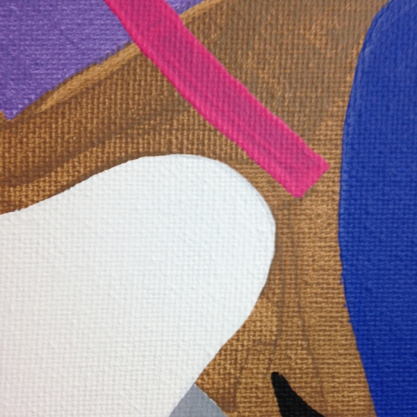 Close-Up 2 Composition #194- Tribute to Esphyr Slobodkina Linda Cleary 2014 Acrylic on Canvas
