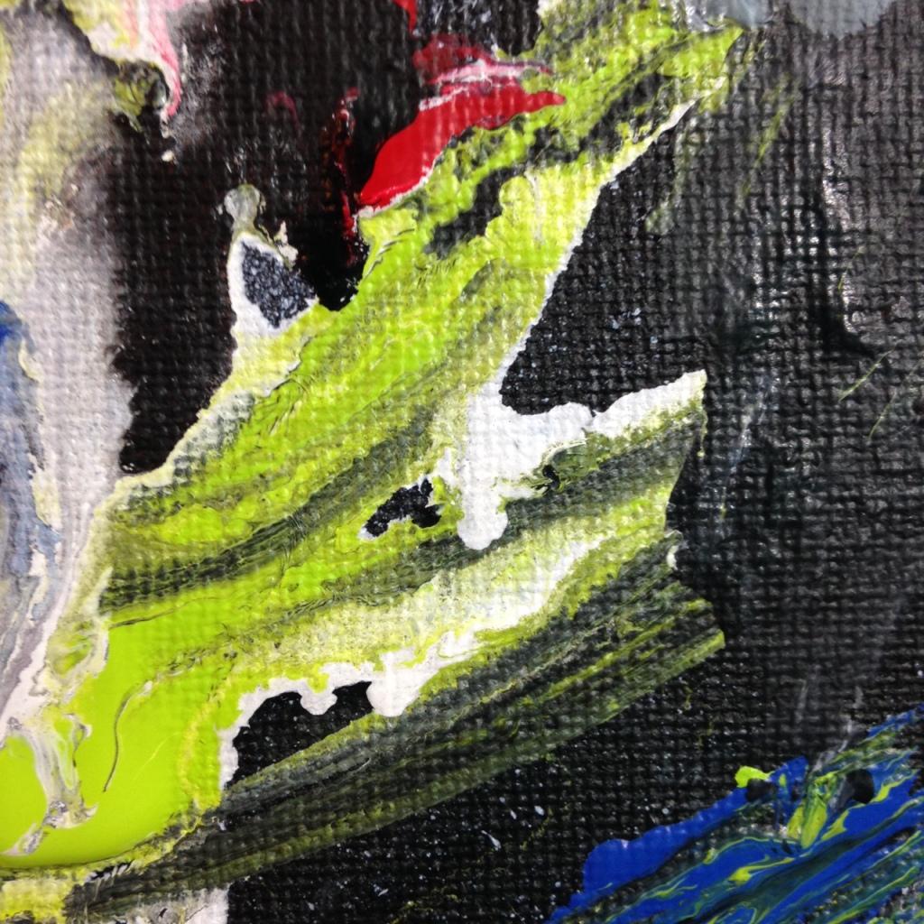 Close-Up 2 Het Begin Van Het Einde- Tribute to Asger Jorn Linda Cleary 2014 Acrylic on Canvas