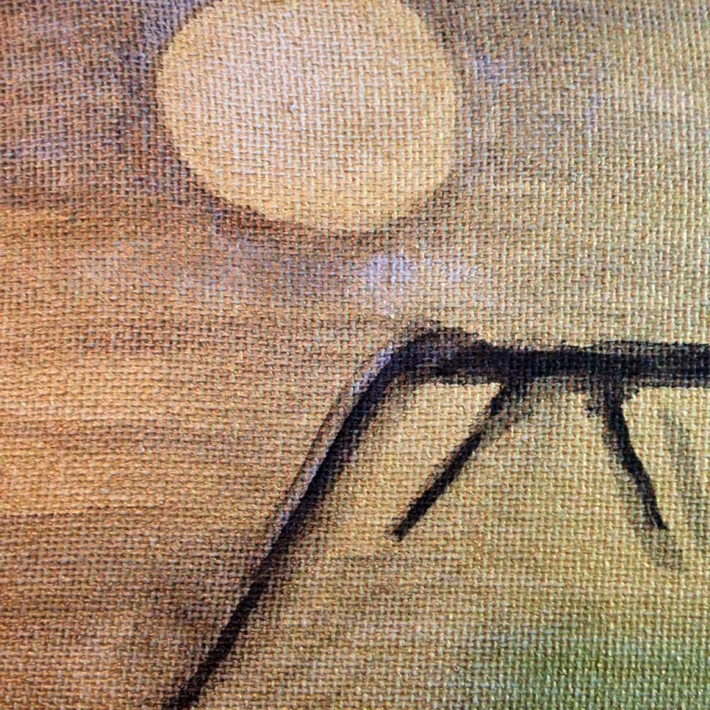 Close-Up 2 Fuji- Tribute to Kishi Ganku Linda Cleary 2014 Acrylic on Canvas