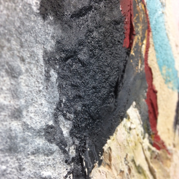 Close-Up 2 Cave Art- Tribute to Jane Frank Linda Cleary 2014 Mixed Media on Canvas