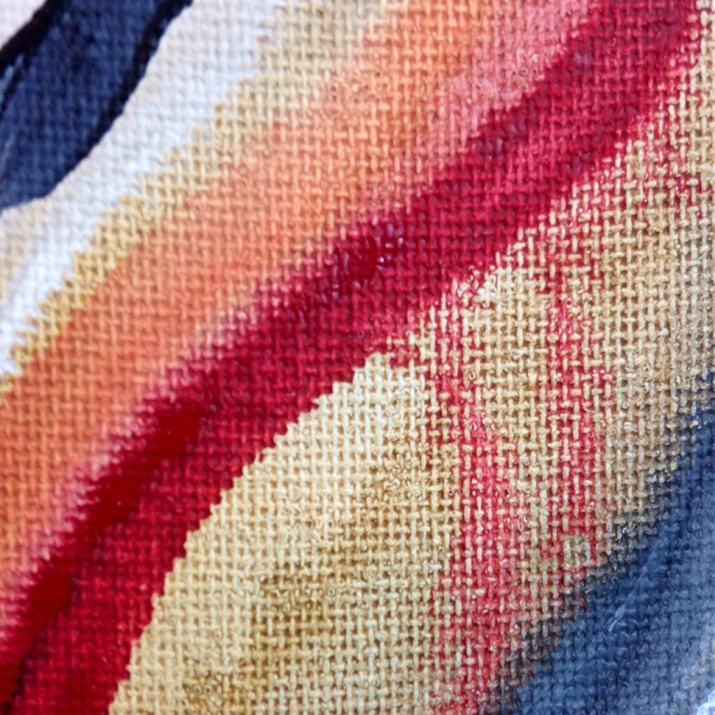 Close-Up 2 Voie Courbé- Tribute to Huguette Arthur Bertrand Linda Cleary 2014 Acrylic on Canvas