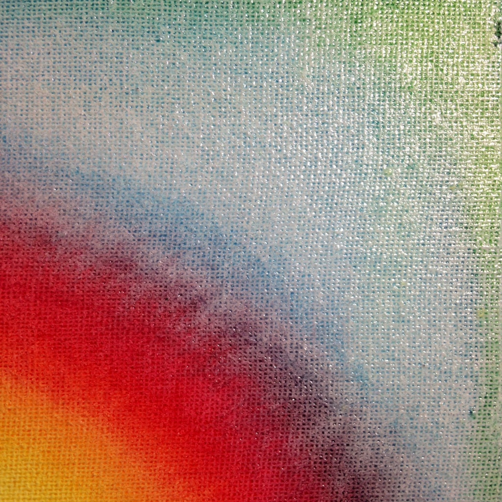 Close-Up 2 Sunspot- Tribute to Leon Berkowitz Linda Cleary 2014 Watercolor and Enamel on Canvas