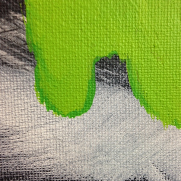 Close-Up 2 Emerald Daze- Tribute to Jeff Muhs Linda Cleary 2014 Acrylic on Canvas