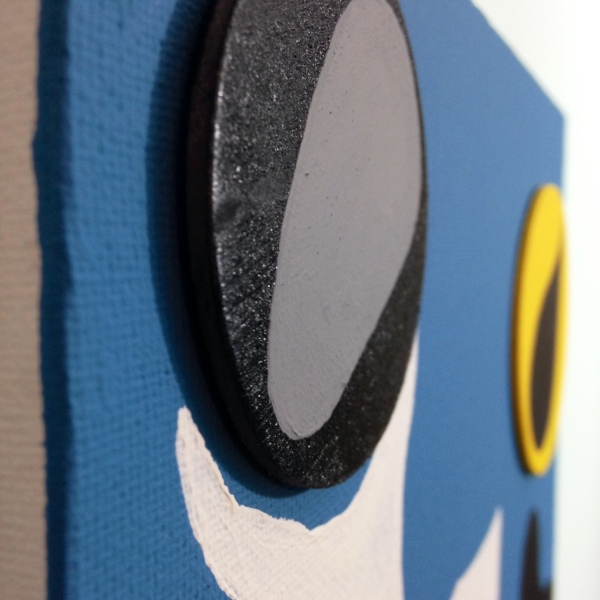 Close-Up 2 Nuit Sonne- Tribute to Jean (Hans) Arp Linda Cleary 2014 Wood Cutouts & Acrylic on Canvas