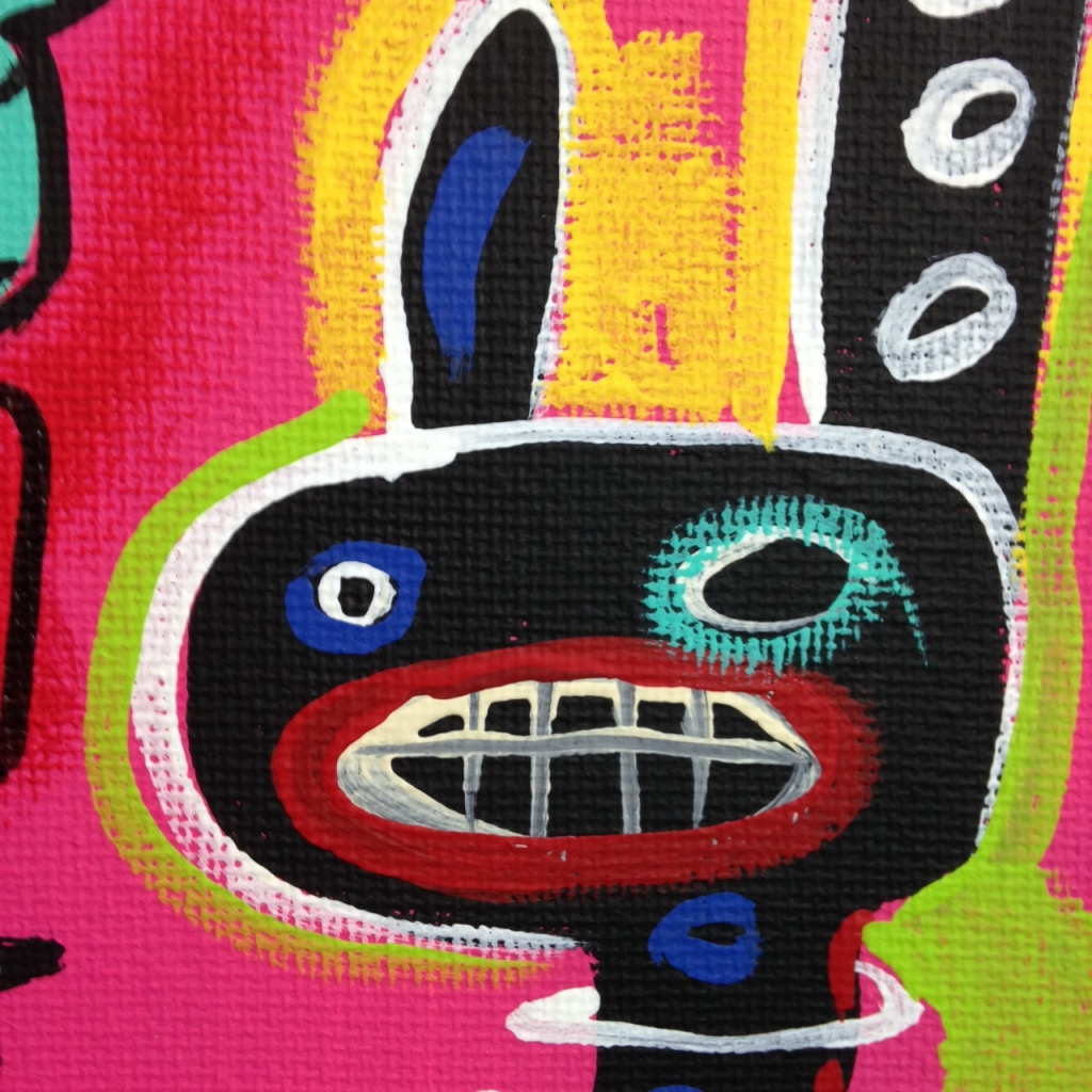 Close-Up 2 Crazy Town- Tribute to Matt Sesow Linda Cleary 2014 Acrylic on Canvas