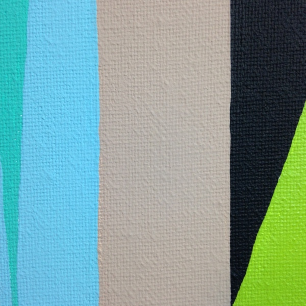 Close-Up 3 And Then the Gate Fell- Tribute to James Little Linda Cleary 2014 Acrylic on Canvas