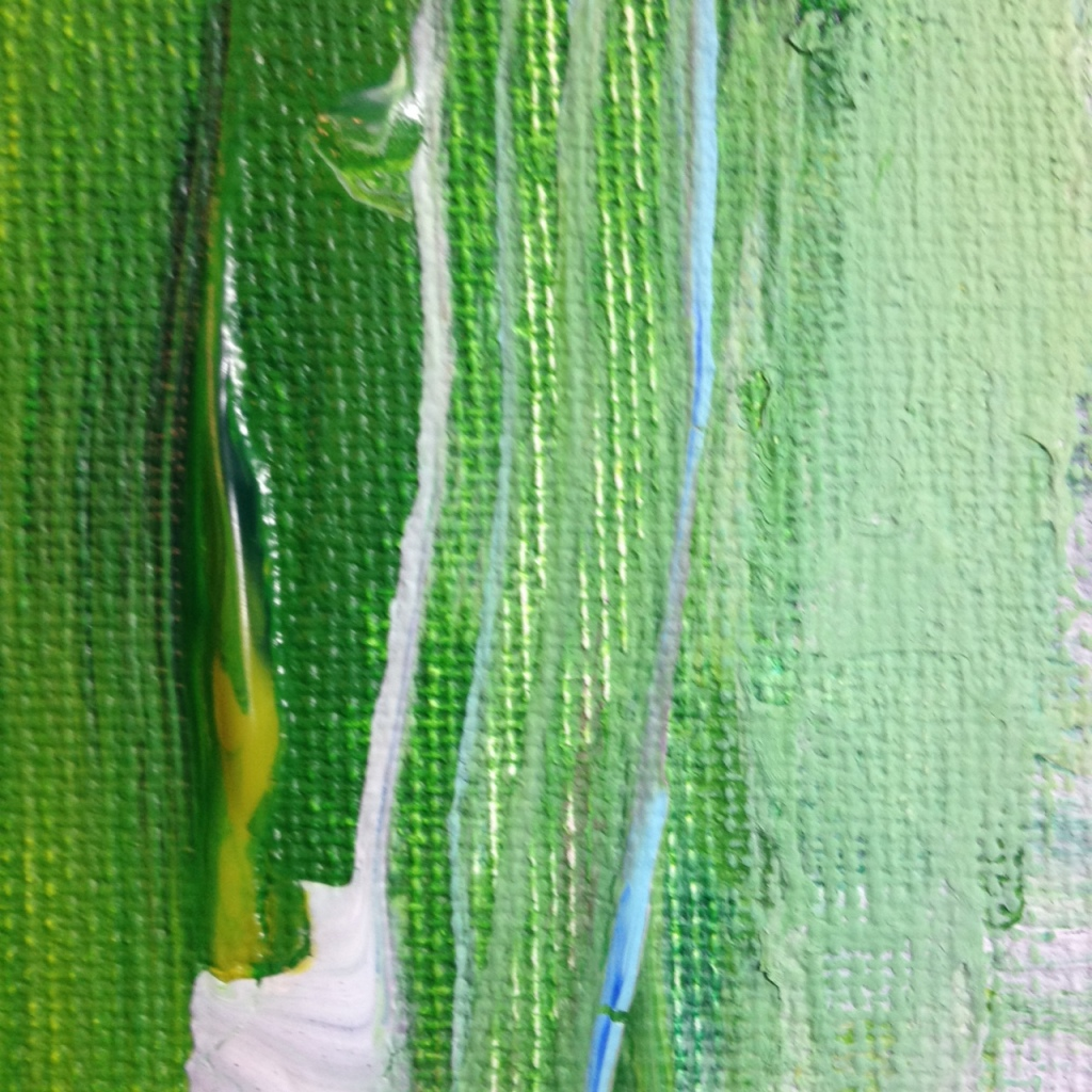 Close-Up 3 Seaside- Tribute to Frank Wimberley Linda Cleary 2014 Acrylic on Canvas