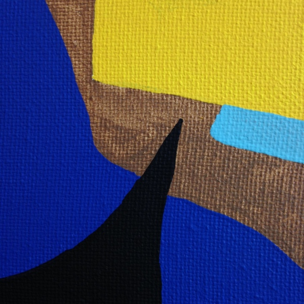 Close-Up 3 Composition #194- Tribute to Esphyr Slobodkina Linda Cleary 2014 Acrylic on Canvas