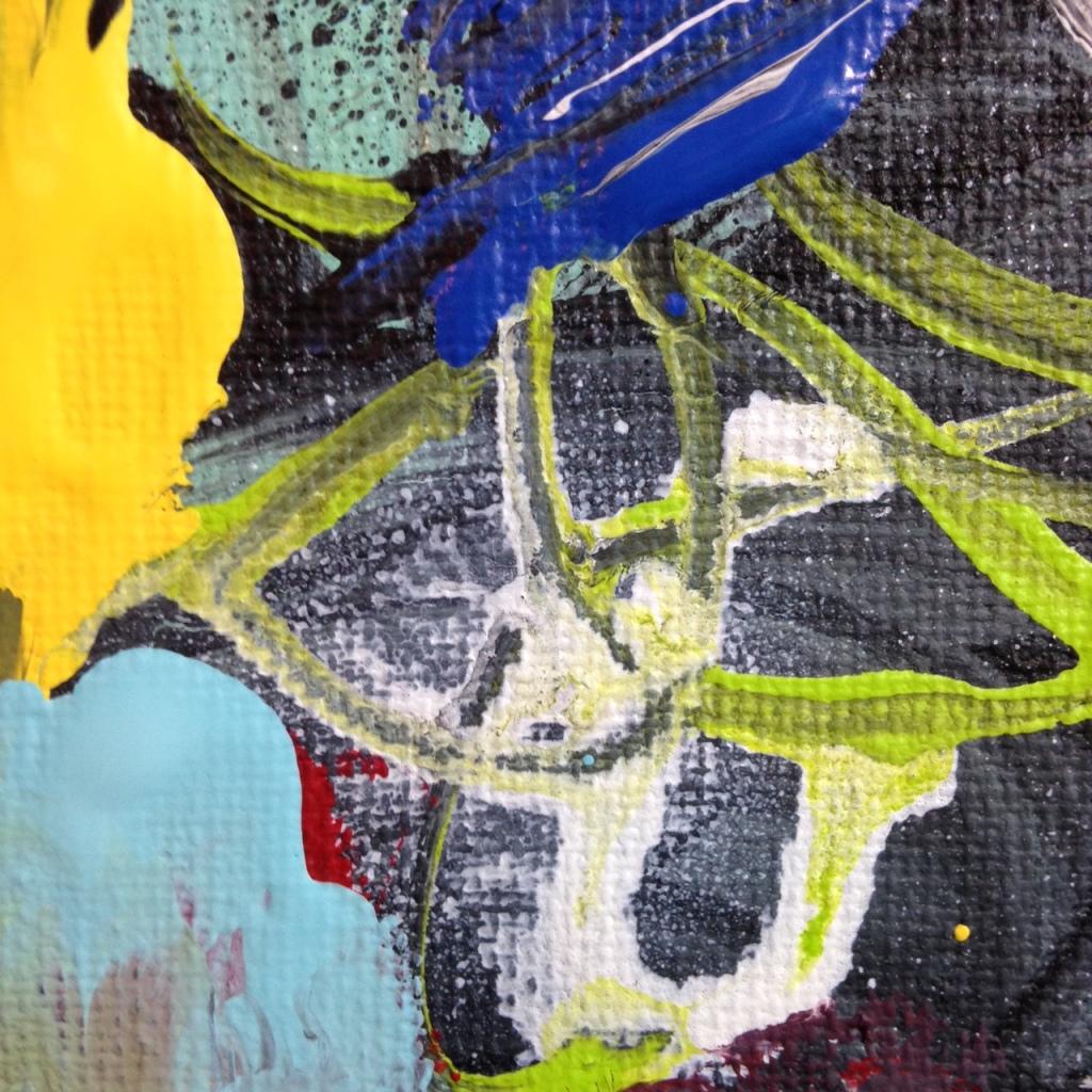 Close-Up 3 Het Begin Van Het Einde- Tribute to Asger Jorn Linda Cleary 2014 Acrylic on Canvas