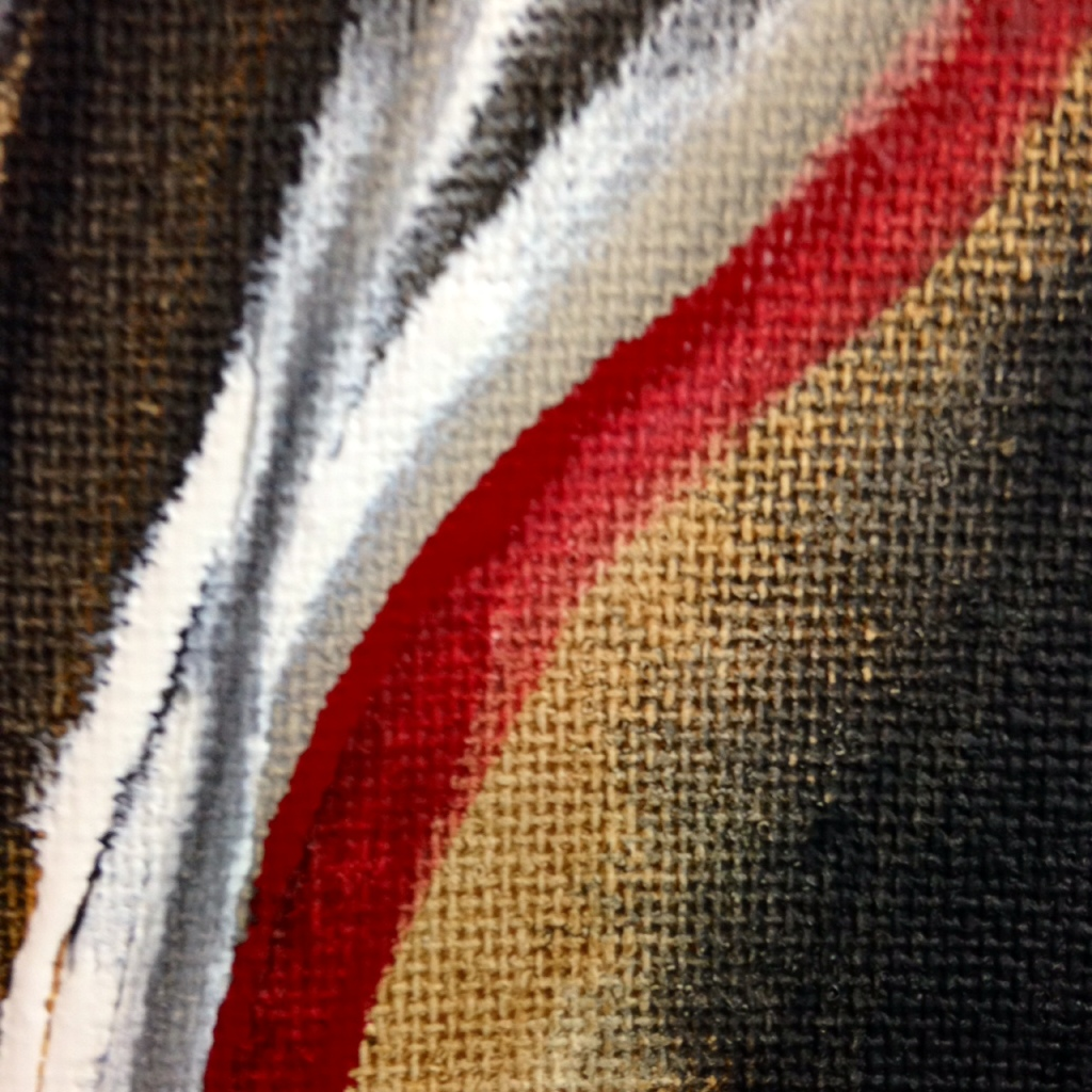 Close-Up 3 Voie Courbé- Tribute to Huguette Arthur Bertrand Linda Cleary 2014 Acrylic on Canvas