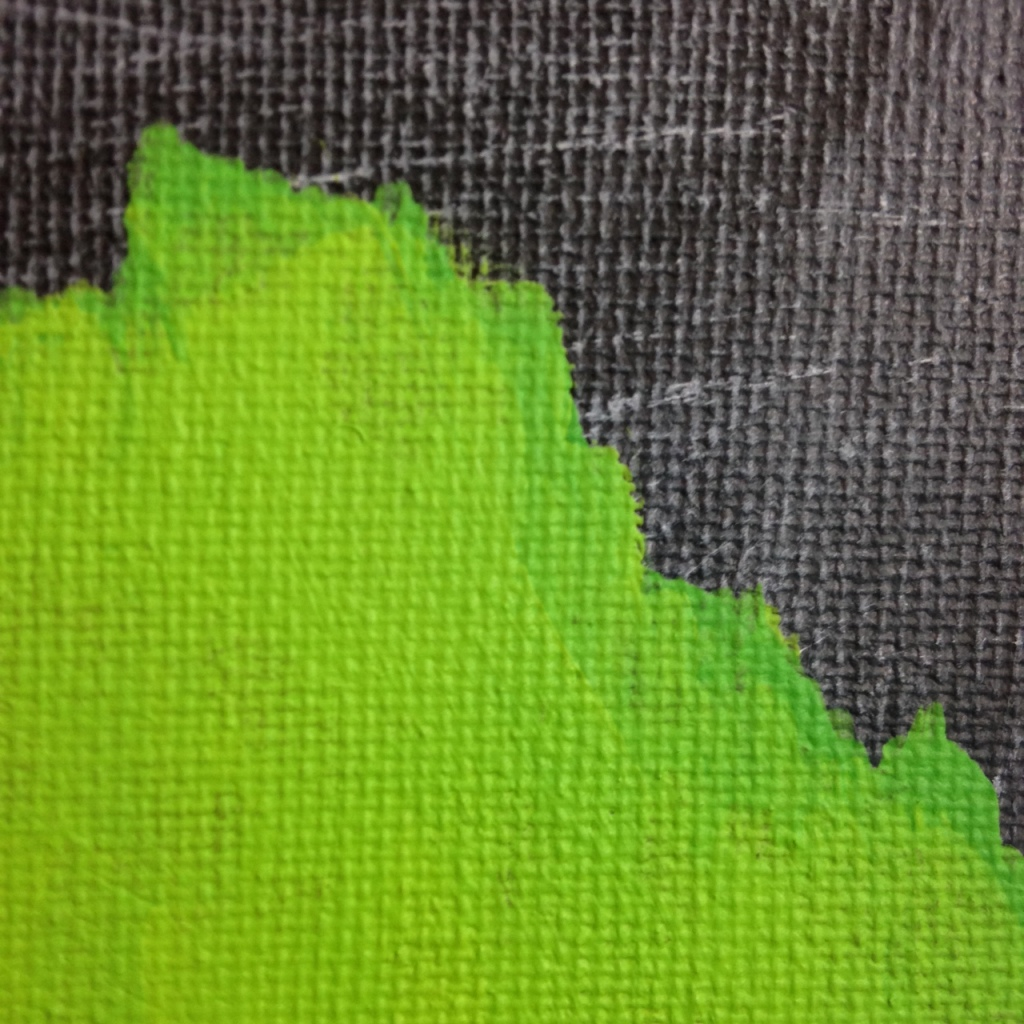 Close-Up 3 Emerald Daze- Tribute to Jeff Muhs Linda Cleary 2014 Acrylic on Canvas
