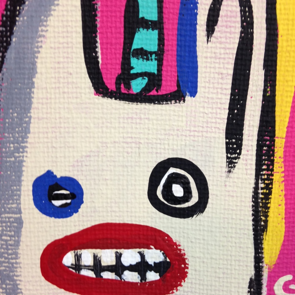 Close-Up 3 Crazy Town- Tribute to Matt Sesow Linda Cleary 2014 Acrylic on Canvas