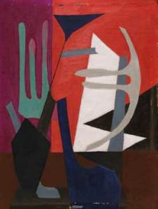 Esphyr Slobodkina Composition, 1940. Oil on gessoed Masonite