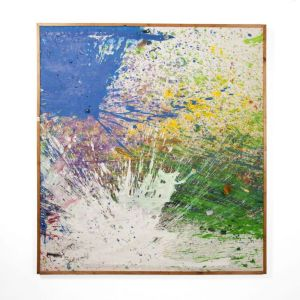Shozo Shimamoto. Capri Certosa 2008, mixed media on canvas