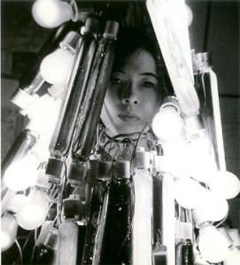 Atsuko Tanaka in her Electric Dress