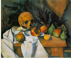 Still Life With Skull - Paul Cezanne