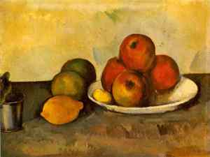 Still life with Apples- Paul Cezanne