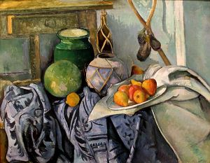 Still life with a Ginger Jar and Eggplants- Paul Cezanne
