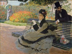 Camille Monet on a Bench- Claude Monet