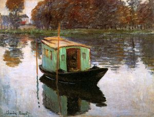 The Studio Boat- Claude Monet