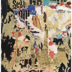 François Dufrene - Untitled. Original 1959