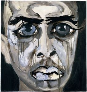 Francesco Clemente, Grisaille Self-Portait 1998