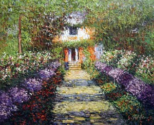 Claude Monet - A Pathway in Monet's Garden A Pathway in Monet's Garden
