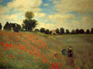 The Poppy Field near Argenteuil- Claude Monet