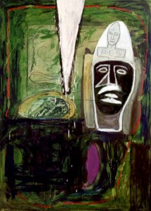 Mimmo Paladino- Untitled Green Painting