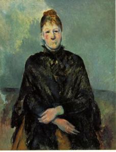 Portrait of Madame Cezanne- Paul Cezanne