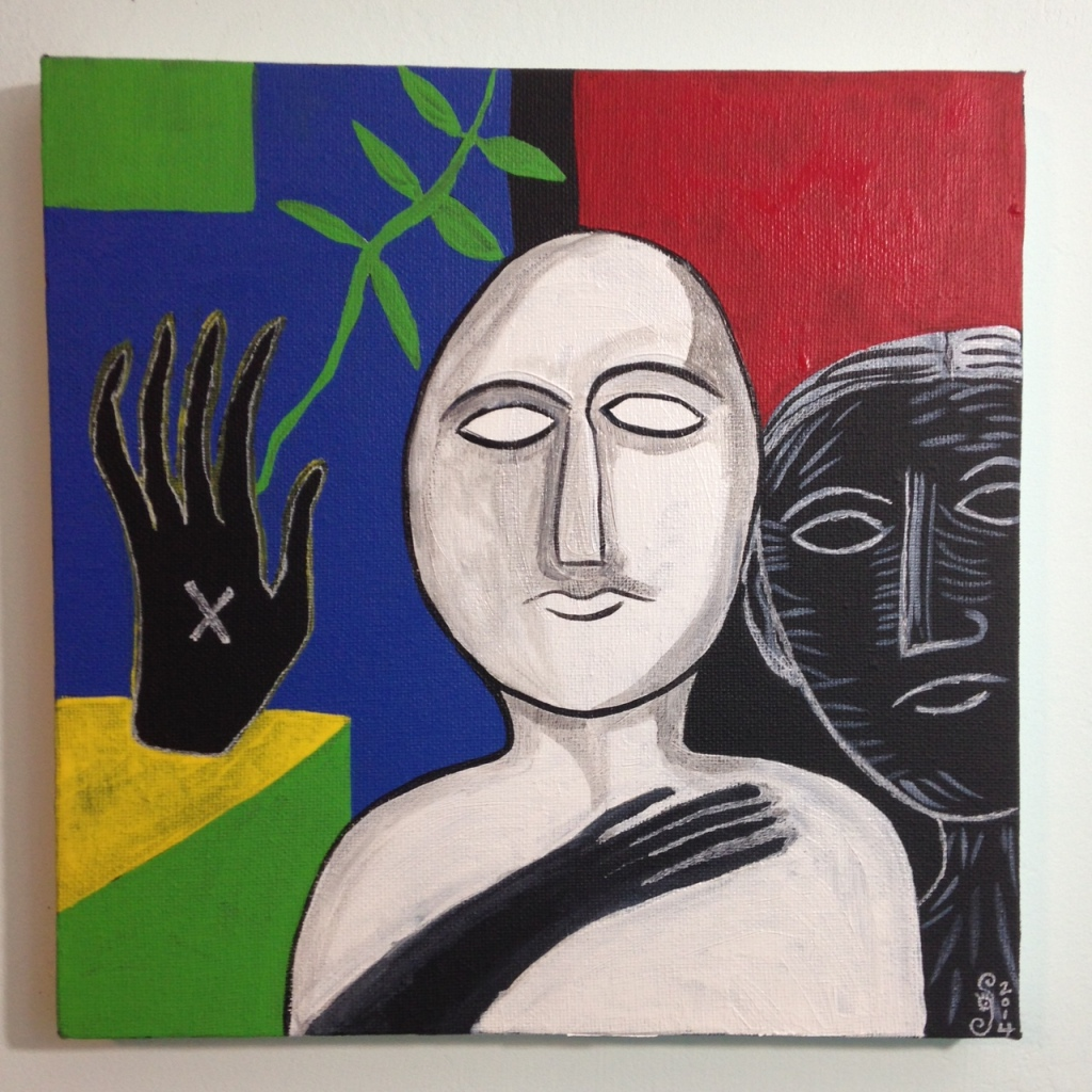Altro Auto- Tribute to Mimmo Paladino Linda Cleary 2014 Acrylic on Canvas