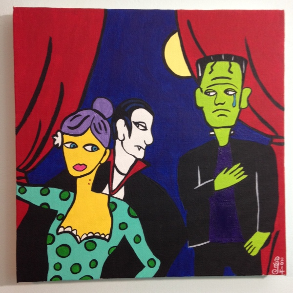 Monster Cabaret- Tribute to Jacques Pellegrin Linda Cleary 2014 Acrylic on Canvas
