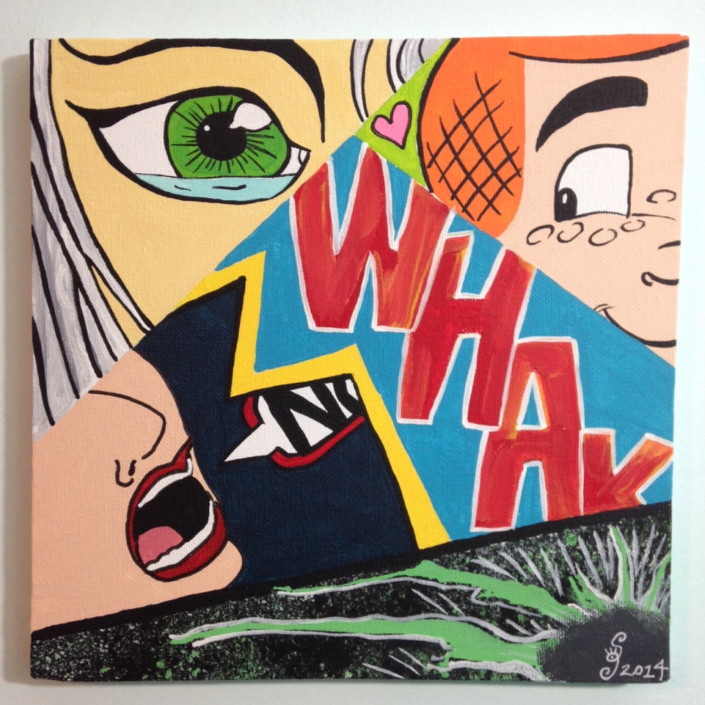 WHAK- Tribute to CRASH Linda Cleary 2014 Acrylic on Canvas