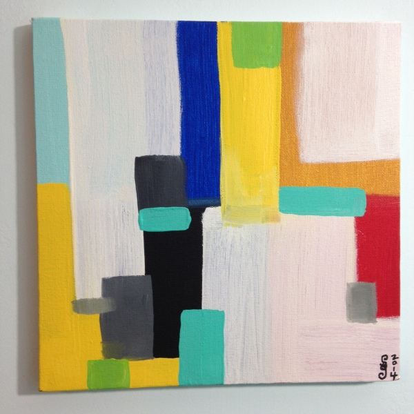 Untitled 235- Tribute to Giorgio Cavallon Linda Cleary 2014 Acrylic on Canvas