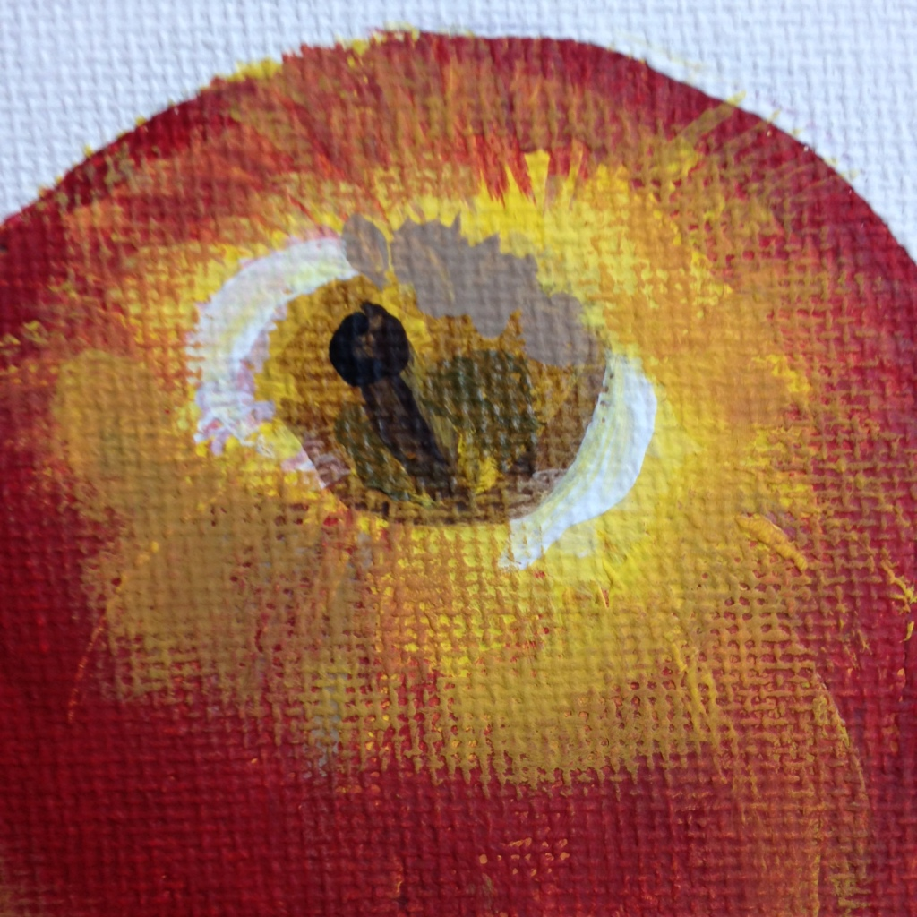 Close-Up 1 Still Life with Apples- Tribute to Paul Cezanne Linda Cleary 2014 Acrylic on Canvas