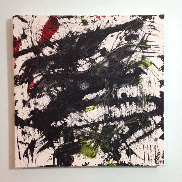 Ready, Set, Go- Tribute to Yasuo Sumi Linda Cleary 2014 Acrylic on Canvas
