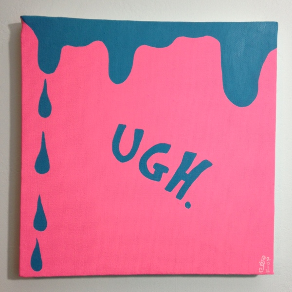UGH.- Tribute to Carl Ostendarp Linda Cleary 2014 Acrylic on Canvas