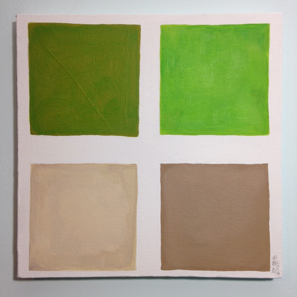 Vert Brun- Tribute to Anne Appleby Linda Cleary 2014 Acrylic on Canvas