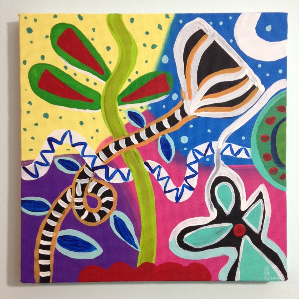 Twilight in Spring- Tribute to Gillian Ayres Linda Cleary 2014 Acrylic on Canvas