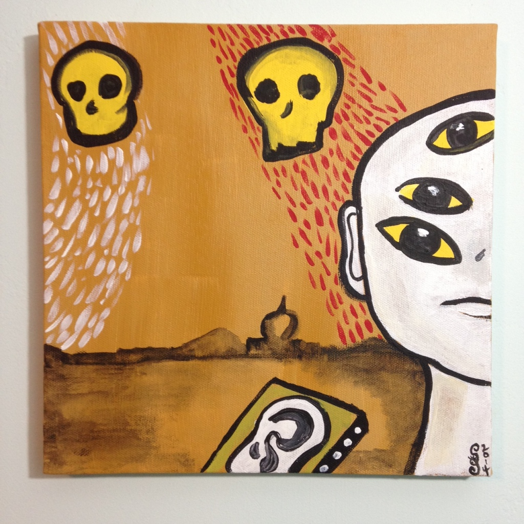 I Miei Occhi Piangono- Tribute to Enzo Cucchi Linda Cleary 2014 Acrylic on Canvas