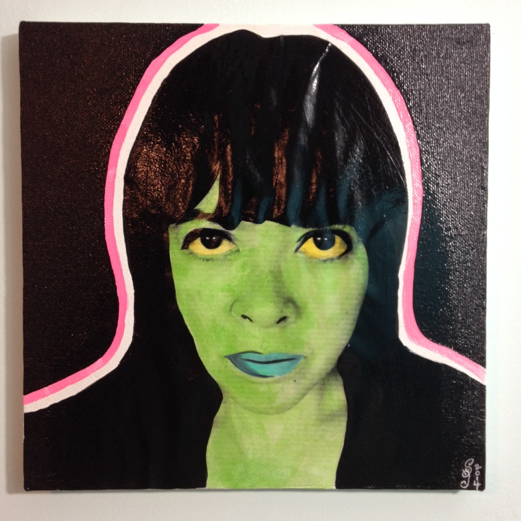 Neon Self-Portrait- Martial Raysse Linda Cleary 2014 Mixed-Media on Canvas
