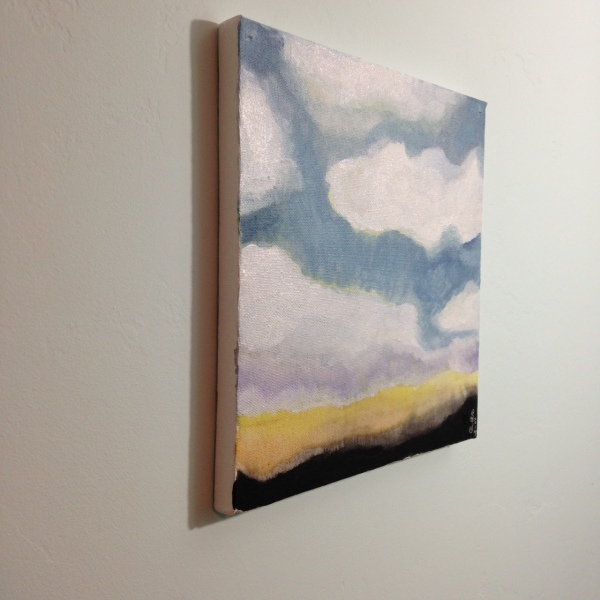 Side View Sunset Sky- Tribute to Jon Schueler Linda Cleary 2014 Watercolor & Acrylic on Canvas