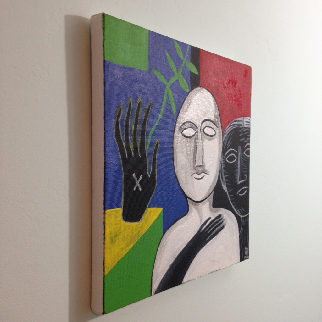 Side-View Altro Auto- Tribute to Mimmo Paladino Linda Cleary 2014 Acrylic on Canvas