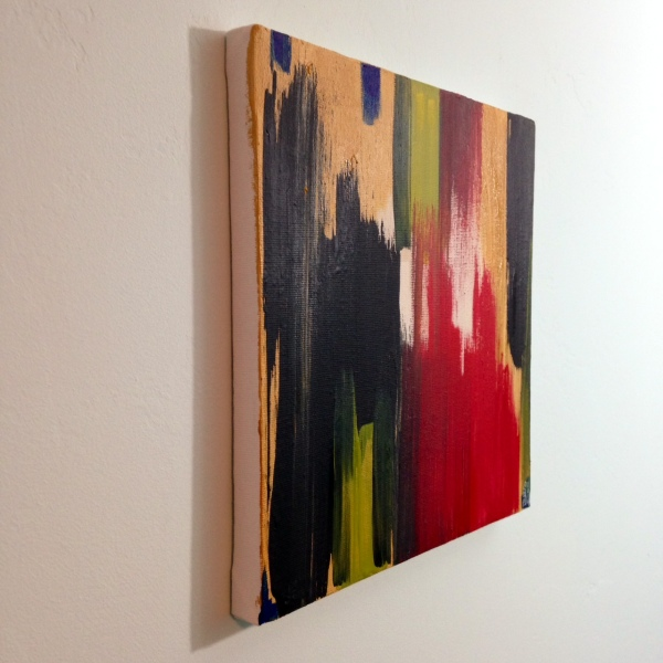 Side-View Untitled #227- Tribute to Edward Dugmore Linda Cleary 2014 Acrylic on Canvas
